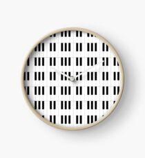 Piano Key Stripes Clock