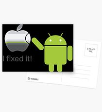 Apple Android I Fixed It Postcards