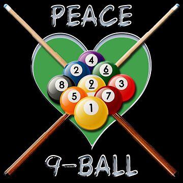 Peace Love 9-Ball by dgpaul