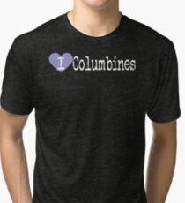 I Heart Columbines | Love Columbines - Aquilegia Tri-blend T-Shirt