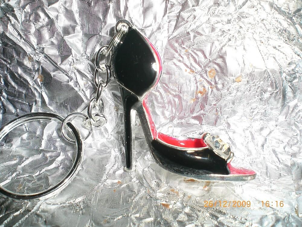 Lovely shoe keyring, by Jadavision