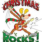 CHRISTMAS ROCKS with Cartoon Reindeer by MartyToons