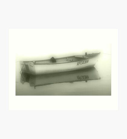 Misty Boat Art Print