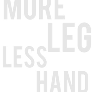 More Leg Less Hand Funny Gift for Horse Lovers by ahahatees