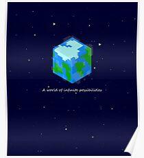 Minecraft Cube World Poster