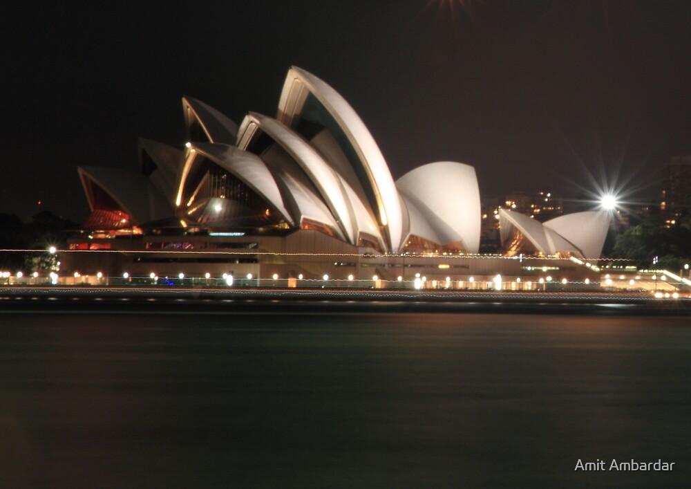 Moon Lit Opera House, Sydney by Amit Ambardar