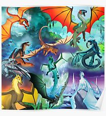 Wings of fire all dragon poster Poster