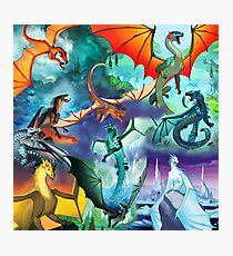 Wings of fire all dragon poster Photographic Print