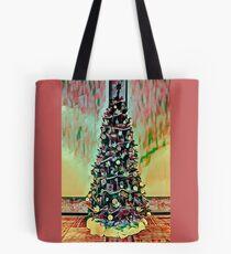 Christmas Tree Red Theme Tote Bag