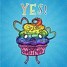 YES! Pride Zombie Cupcake by Jenji