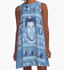 Adam Sandler Hanukkah Song Lyrics Ugly Christmas Sweater A-Line Dress