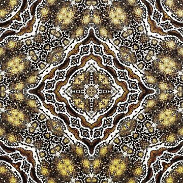 abstract jewel dark gold by janisleenewyork