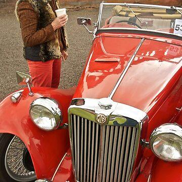 My darling red car by brilightning