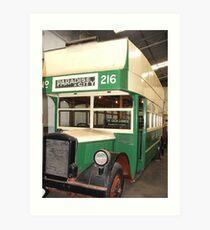 The Green Goddess - Bus 216 Art Print
