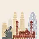 Dakar skyline poster  by paulrommer