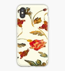 floral pattern on cream iPhone Case