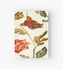 floral pattern on cream Hardcover Journal