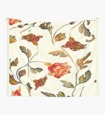 floral pattern on cream Wall Tapestry