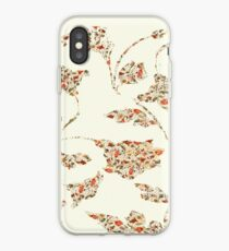 floral pattern on cream no 2 iPhone Case