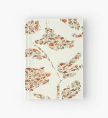 floral pattern on cream no 2 Hardcover Journal