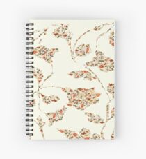 floral pattern on cream no 2 Spiral Notebook
