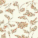 floral pattern on cream no 2 by bywhacky
