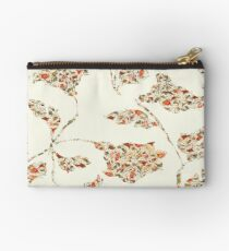 floral pattern on cream no 2 Studio Pouch