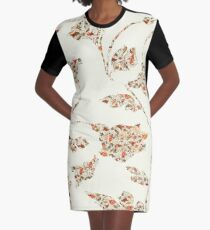floral pattern on cream no 2 Graphic T-Shirt Dress