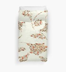floral pattern on cream no 2 Duvet Cover