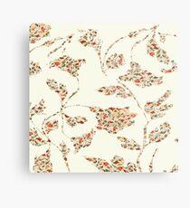 floral pattern on cream no 2 Metal Print