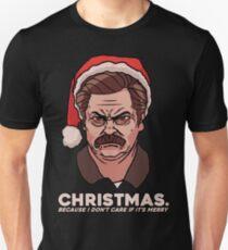 Ron Swanson Christmas Slim Fit T-Shirt
