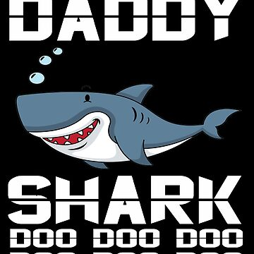Men Daddy Shark T-Shirt Doo Doo Doo The Shark Family Apparel by mirabhd
