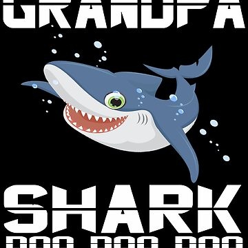 Mens grandpa Shark Doo Doo Doo T-Shirt | Matching Family Shirt by mirabhd