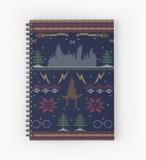Ugly Potter Christmas Sweater Spiral Notebook