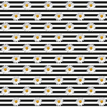 Daisy Pattern Black&White by Hell-Prints