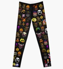Five Nights at Freddy's - Pixel art - Multiple Characters New Set Leggings