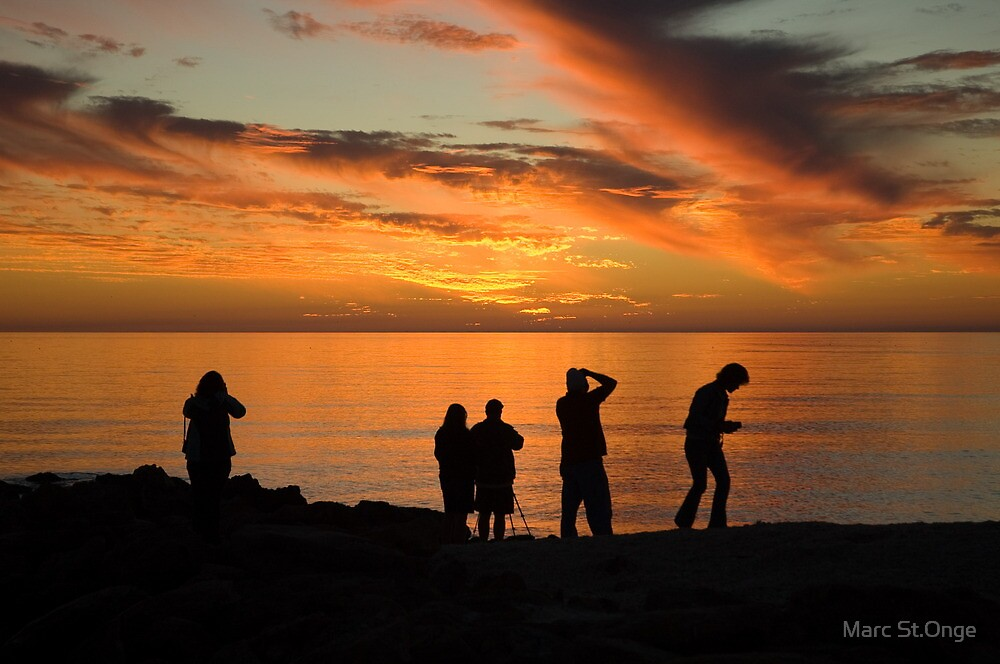 Photographers at Sunset by Marc St.Onge