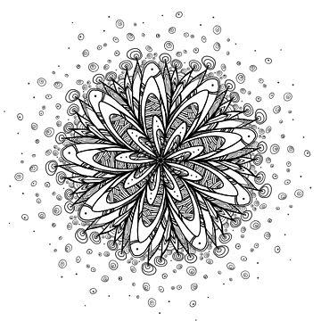 Mandala flower - snow by rafo