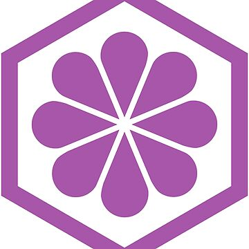 Geometric Pattern: Hexagon Flower: Purple/White by redwolfoz
