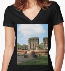 a sprawling Sri Lanka landscape Women's Fitted V-Neck T-Shirt