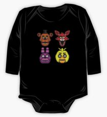 Five Nights at Freddy's 1 - Pixel art - The Classic 4 Long Sleeve Baby One-Piece