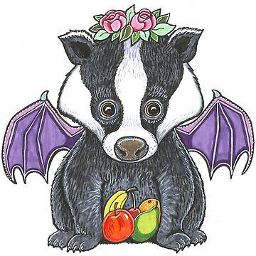 Lady Badger Bat by LyndaBell