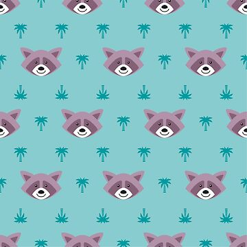 Cute pattern with raccoons by alijun