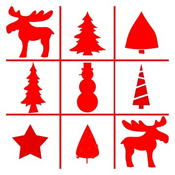 Christmas Tic Tac Toe by KabaTheBear