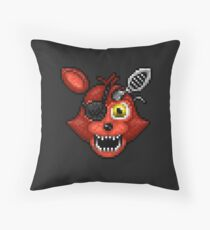 Adventure Withered Foxy - FNAF World - Pixel Art Throw Pillow