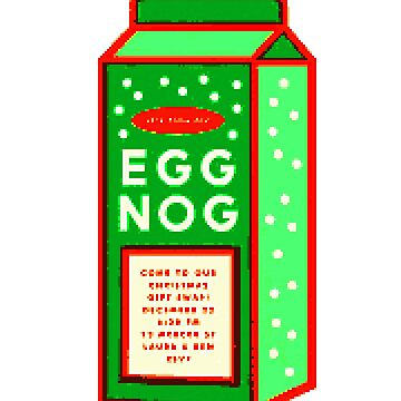 Eggnogg Eggnog Christmas Design by KabaTheBear