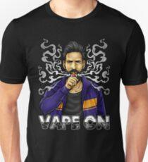 Vape On Illustration | Bearded Vaper | Mech Mod Unisex T-Shirt