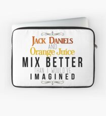 Jack Daniels and Orange Juice Laptop Sleeve