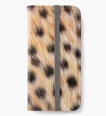 Animal Print Pattern Real Cheetah Fur iPhone Wallet/Case/Skin