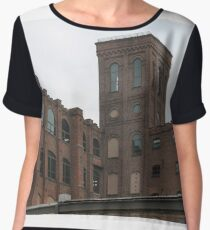 #town #facade #architecture #city #sky #outdoors #brick #old #ancient #religion #tower #horizontal #colorimage #famousplace #locallandmark #nationallandmark #residentialdistrict #nopeople Chiffon Top